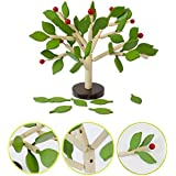 Babyrise Inserting Leaves 3D Tree Blocks Wooden Building Blocks Set Kids Early Educational Toy For Girls And Boys