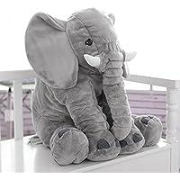 Cuscino di Peluche a Forma di Elefante Pupazzi Animali Giocattolo Ripieno per Neonati Bambini
