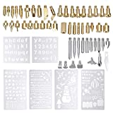 An liang qu you xian mei Pirografia Kit 61Pcs 60W Kit di Punta for Ferro da Stiro Elettrico for Saldatura a Penna for Legno Strumento for pirografia