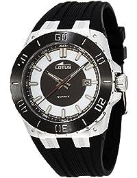 Lotus 15805/1 - Reloj analógico de cuarzo para hombre con correa de caucho, color negro