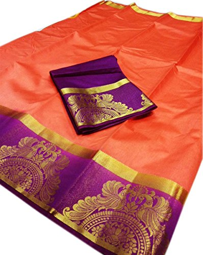 Nirja Creation Multi Color Traditional Fancy Party wear Cotton Silk Saree (6...