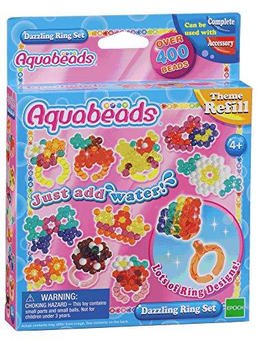 Aquabeads 79278 Glitzerring Set, Kinder Bastelset