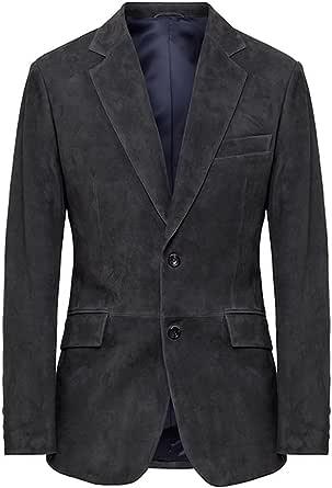 Men's Hackett London Mayfair Suede Leather Blazer in Dark Grey (S) (S)