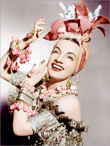 d 30 x 40 cm: Carmen Miranda von Everett Collection (Carmen Miranda Kostüm)