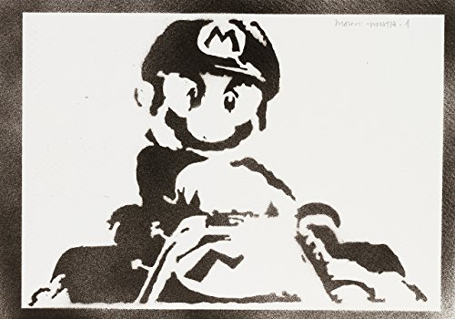 (Super Mario Poster Plakat Handmade Graffiti Street Art - Artwork)
