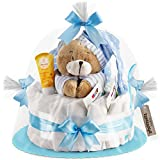 Timfanie® Windeltorte | Spieluhr (1-stöckig / baby-blau)