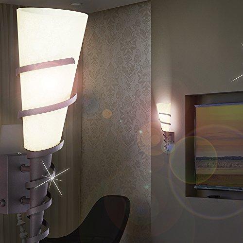 MIA Light Rustikale Wandfackel Landhaus aus Scavoglas in rostfarben