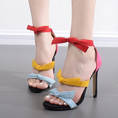 Sandalen High Freizeitaktivitäten Farbe Frau Outdoor 39eu heel Hausschuhe Satin Zyushiz 0t6qvwaw