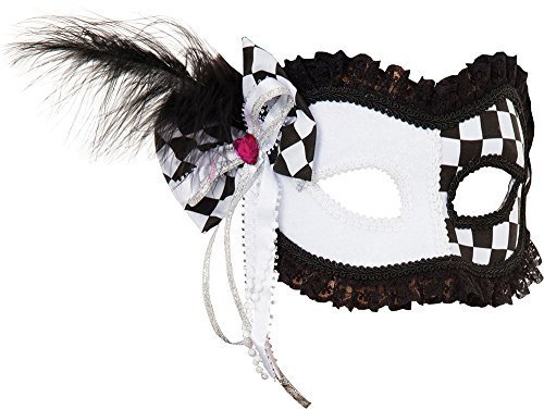 d Party Kostüm Zubehör Harlekin Hofnarr (GF) Maske (Damen Hofnarr Kostüm Kostüm)