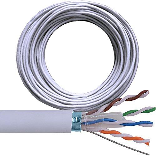 100m Bobine de câble réseau CAT 6FTP/STP blindé LAN RJ45catégorie 5e cuivre pur 100