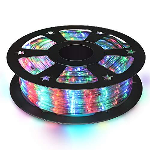 COSTWAY 30M LED Lichterschlauch, Lichtschlauch für Außen und Innen, Lichterkette mit 1080 LEDs, Weihnachtsbeleuchtung, Weihnachten Deko (Bunt)