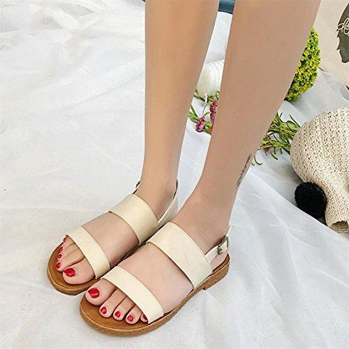 Sommer Sandalen Badeschuhe tragen Frauen schwangere Frauen rutschfeste Freizeitschuhe Beige