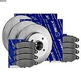 Meyle Bremsscheiben+bremsbeläge Set Vorne+hinten Bremsklötze Bremsbelagsatz Brake Discs Brake Pads