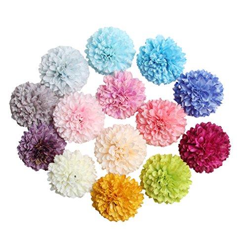 rysantheme Deko Blütenköpfe Künstliche Kunst Blumen Köpfe Wohnaccessoires Blumendekoration - 10 Farben, 5.5cm ()