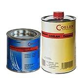 Coelan Bootsbeschichtung transparent 375 ml seidenmatt + Coelan Verdünner 1000 ml