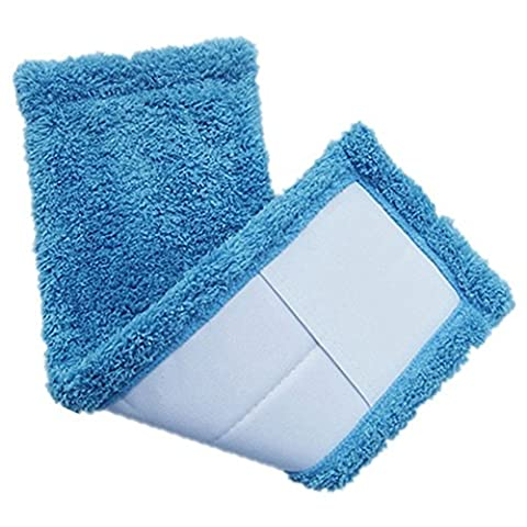 Bluelans® Mop Refill Replacement Mop Heads Cleaning Pads, Removable & Washable (Blue)