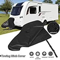 boastvi Caravan Tow Hitch Cover Motorhome Towing Hitch Cover, Waterproof Reinforced PVC UV Protective CoverSuitable For Caravan Hitch Towing Rain Snow Dust Protecter