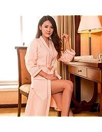 Blueqier Pyjama de Nuit Hotel SPA Albornoz Batas de baño Sauna Traje Albornoz Damas (Color: Rosa, Tamaño: M) Inicio Ropa de Dormir (Color : Pink ,…