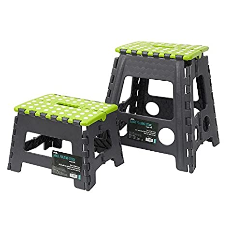 JVL Small & Large Folding Step Stool, Lime