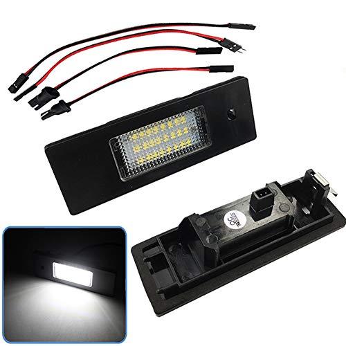 LanLan 2pcs / Set Voiture LED Plaque d'immatriculation lumière de lumière Aucune Lampe de Tronc LEDs d'erreur pour BMW E87