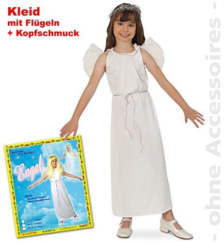 Engel, Kleid mit Flügeln + Kopfschmuck PB Größe 122-128