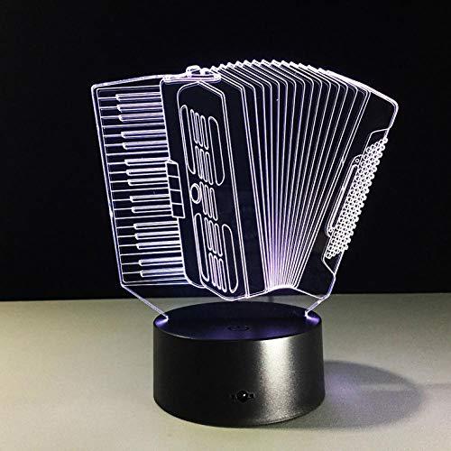 3D Illusion Lampe 7 Farbwechsel Dekor Lampe mit Fernbedienung Orgel Yueqin Music 7 Farbwechsel Touch Nachtlicht