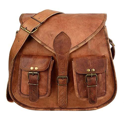 handmadecraft ABB 18inch Vintage hecho a mano bolso bandolera de piel Para Portátil Maletín Bolso Bandolera