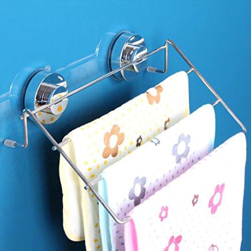 Daeou Edelstahl Handtuchhalter ohne perforierte sucker Rack