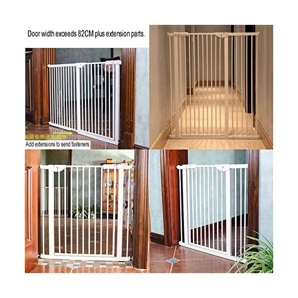 Child Safety Gate Pet Gate Punch-Free Automatic Locking Stairs Fence Small Pets Isolation Gate Door Width 71-180CM High 100CM (Size : 174-180CM) Hongsemenlan In order to allow you to buy a doorbar that better suits your needs, please measure your specific size when ordering, then contact our customer service or send us an email to tell us your size. We will customize a suitable fence for you. Features: Punch-free installation, easy to install, does not damage the wall. 90 ° of one side open, two-way door, normally open may be greater than 90 °. Double lock to prevent children mistakenly opened, magnetic locks, automatic door, 52CM free access to the channel. 6