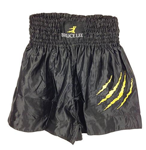 Bruce Lee Kick - Pantaloncini, Unisex, Kickbox Shorts NEU, nero, XL