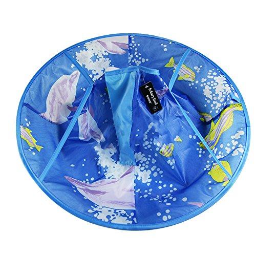 Vococal® Etanche Cheveux Enfant Coupe Cape Enfants Cheveux Tablier Cap Blue Dolphin