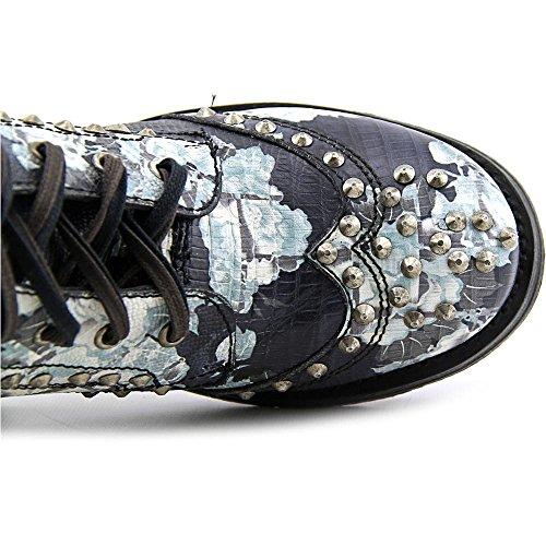 Ash Rund Rare Damen Mode Mitte Stiefel blanc Leder Calf Noir q4q16wRH