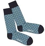 Dillysocks bunte Socken für Damen und Herren, Herrensocken in Premiumqualität aus Europa, Baumwollsocken Größe 41 - 46 (Blue Tiny Dots)