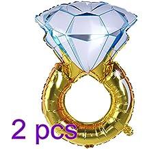 NUOLUX 2pcs Anillo de Diamante Globos 43