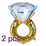 NUOLUX 2pcs hincha anillo de diamante globo romántico más grande de la hoja 33 'para la decoración del partido de compromiso del aniversario de boda