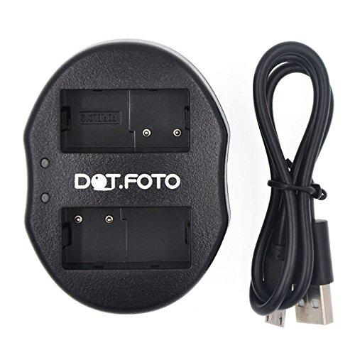 Dot.Foto USB Doppelladegerät für Leica BP-DC12, BP-DC12-E, BP-DC12-U - passend für Leica Q (Typ 116), V-LUX (Typ 114), V-LUX 4