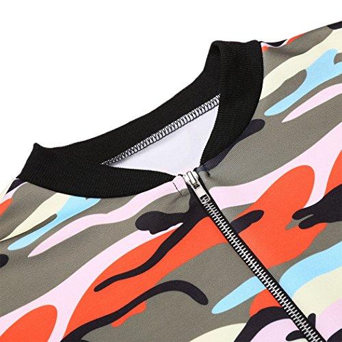 ZEARO Damen tarnung Jacke Windjacke Trenchcoat Outdoorjacke Jacket Mantel Coat Parka Windbreaker Orange
