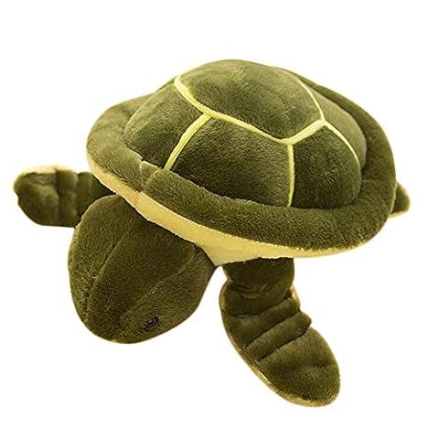 Hosaire 1X Tortoise Turtle Shape Pillow Cushion Stuffed Plush Toy-35cm length(Green,Size M )
