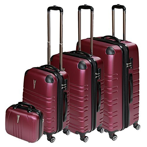 REISEKOFFER REISEKOFFERSET TROLLEY KOFFER 4 SET XL L M KOFFERSET REISEKOFFER BEATY CASE Red TSA Schloß