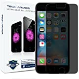 "iPhone 6S Plus Screen Protector, Tech Armor Apple iPhone 6 Plus (5.5"") Privacy Ballistic Glass - Protect Resale Value - [1-Pack] Lifetime Warranty"