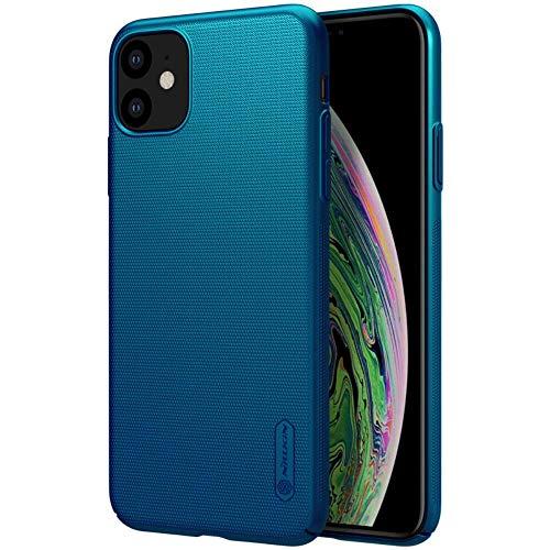Nillkin Funda para iPhone 11 6.1'', PC Funda rígida Funda Protectora Antideslizante Ultrafina/Protección Completa antidesgaste para iPhone 11 6.1'' (Azul)
