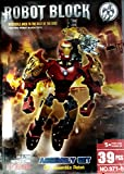 #8: Iron Man Robot Block Assembly Set Of 39 Pcs - Creative Interlocking Model Building Blocks For Children Of All Age Groups