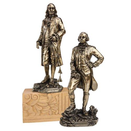 Design Toscano Gründerväter: Franklin und Washington, Figur: 2er-Set (Franklin Design)