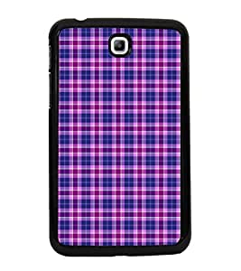 Fuson Premium 2D Back Case Cover Buffalo checks pattern With Multi Background Degined For Samsung Galaxy Tab 3 T211 P3200