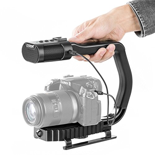 Sevenoak MicRig Video Audio Griff mit Eingebautem Mikrofon für Smartphone GoPro Nikon Canon Sony DSLR Kamera Camcorder