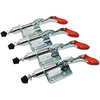 Saim Hand Tool Toggle Clamp GH-201-A 27Kg 60 Lbs Holding Capacity Metal Horizontal Toggle Clamps 6 Pcs LS17031000090