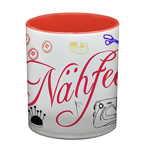 Ma2ca® Nähfee Kaffeetasse Becher Tasse Schneiderin Tasse Becher-innen_rot preisvergleich