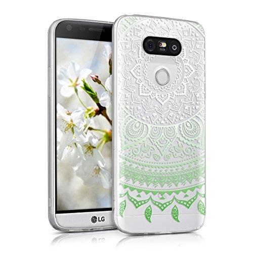 kwmobile LG G5 / G5 SE Hülle - Handyhülle für LG G5 / G5 SE - Handy Case in Grün Weiß Transparent