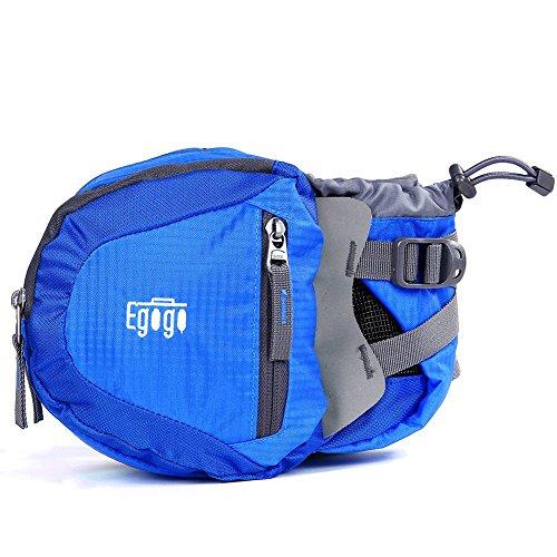 EGOGO viaggi sport pack fanny pack barbone marsupio escursionismo borsa con porta bottiglia d'acqua S2209 (Blu) Blu