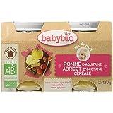 Babybio Pots Pomme d'Aquitaine Abricot d'Occitanie/Céréale 260 g - Lot de 6